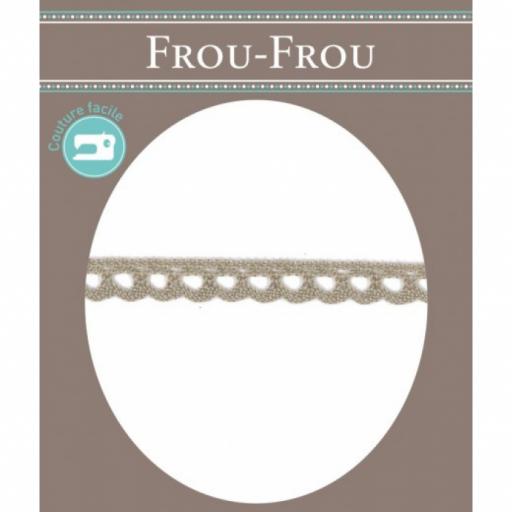 Puntilla algodón beige FROU-FROU
