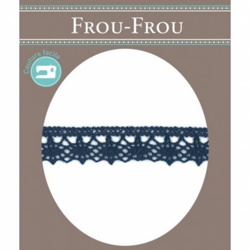 Puntilla algodón azul grisaceo FROU-FROU