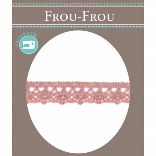 Puntilla algodón rosa maquillaje FROU-FROU [0]