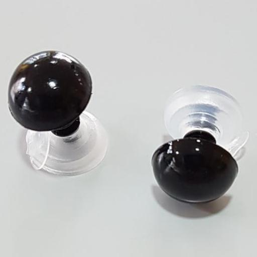 Ojos de seguridad 10 mm negro
