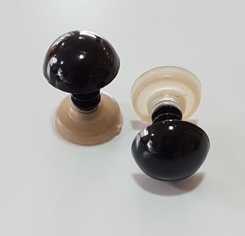Ojos de seguridad 12 mm negro