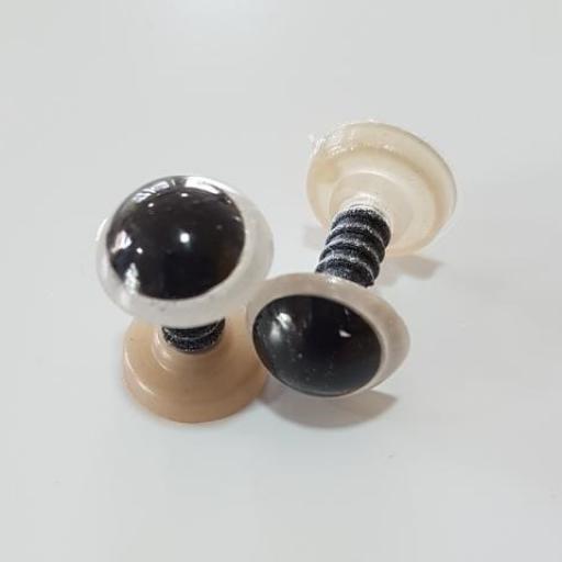 Ojos de seguridad 12 mm blanco/negro