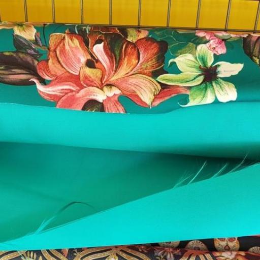 Tela Mikado liso color turquesa [2]