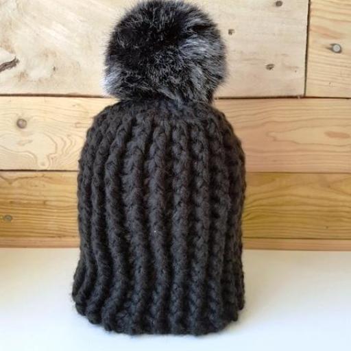 Gorro de lana Negro