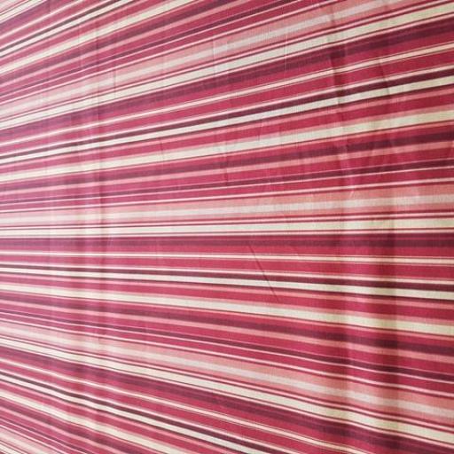 Percal estampado rayas frambuesa [1]