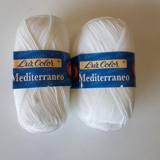 Perlé grueso Mediterraneo 301 Blanco