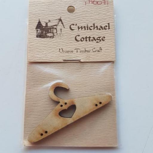 Botón adorno Patchwork Percha de madera