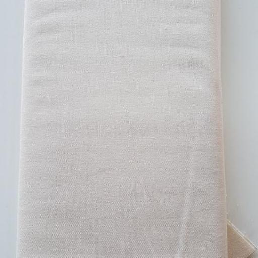 Percal algodon color natural