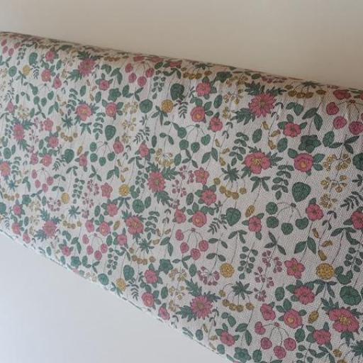 Loneta de panamá estampada flores [1]