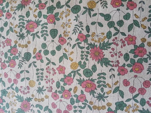 Loneta de panamá estampada flores