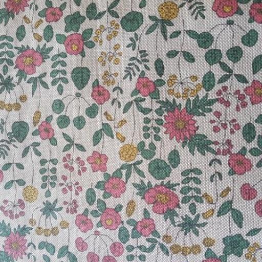 Loneta de panamá estampada flores [0]