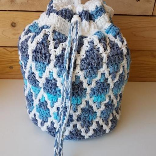 Bolso mochilla Mosaic Crochet