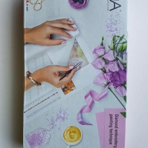 Kit punto de cruz de diamante tulipanes [1]