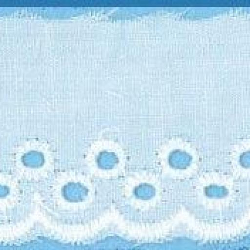 Tira bordada blanca 22 mm de ancho