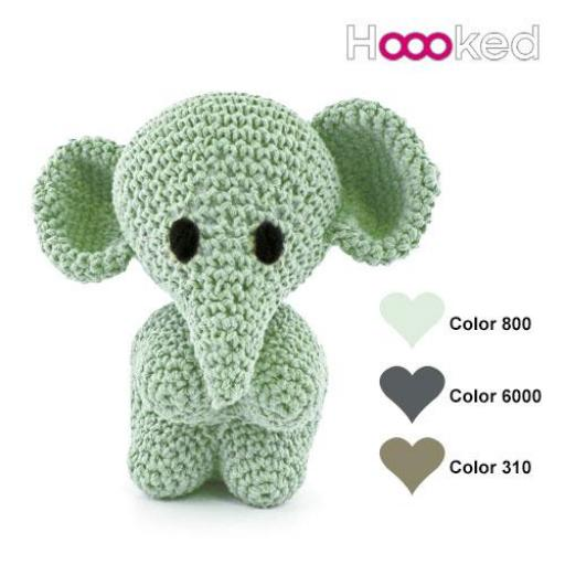 KIT AMIGURUMI ELEPHANT MO (COLOR GRIS)