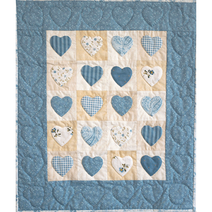 """KIT  QUILT PATCHWORK """"OH SO BLUE"""""""