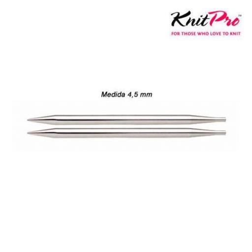 Aguja circular intercambiable corta 4,5mm NOVA METAL [0]