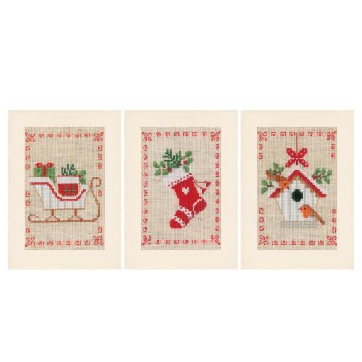 Kit punto de cruz Postales Navidad