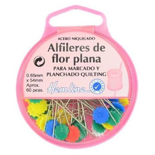 Alfiler Flor Plana Patchwork