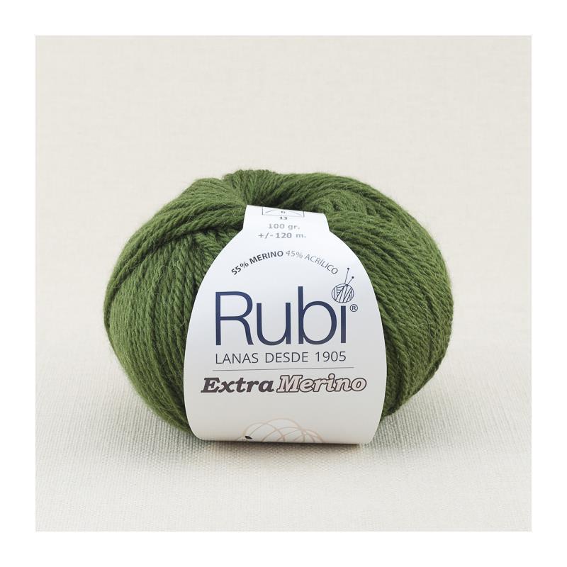 RUBI EXTRA MERINO 410 color verde musgo