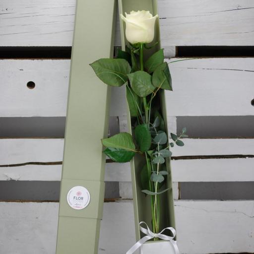 Caja de cartón reciclado, con una rosa [1]