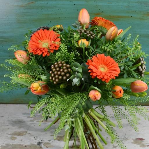 Bouquet tonos naranjas [0]