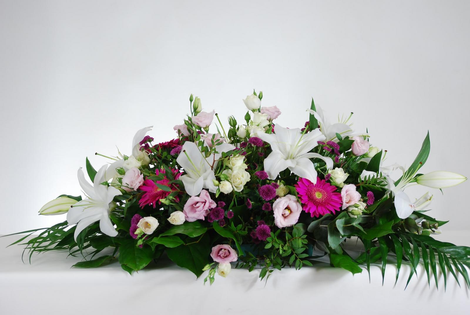 Cojín formal tonos rosas