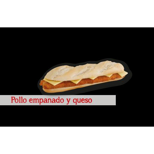 Pollo Empanado y Queso