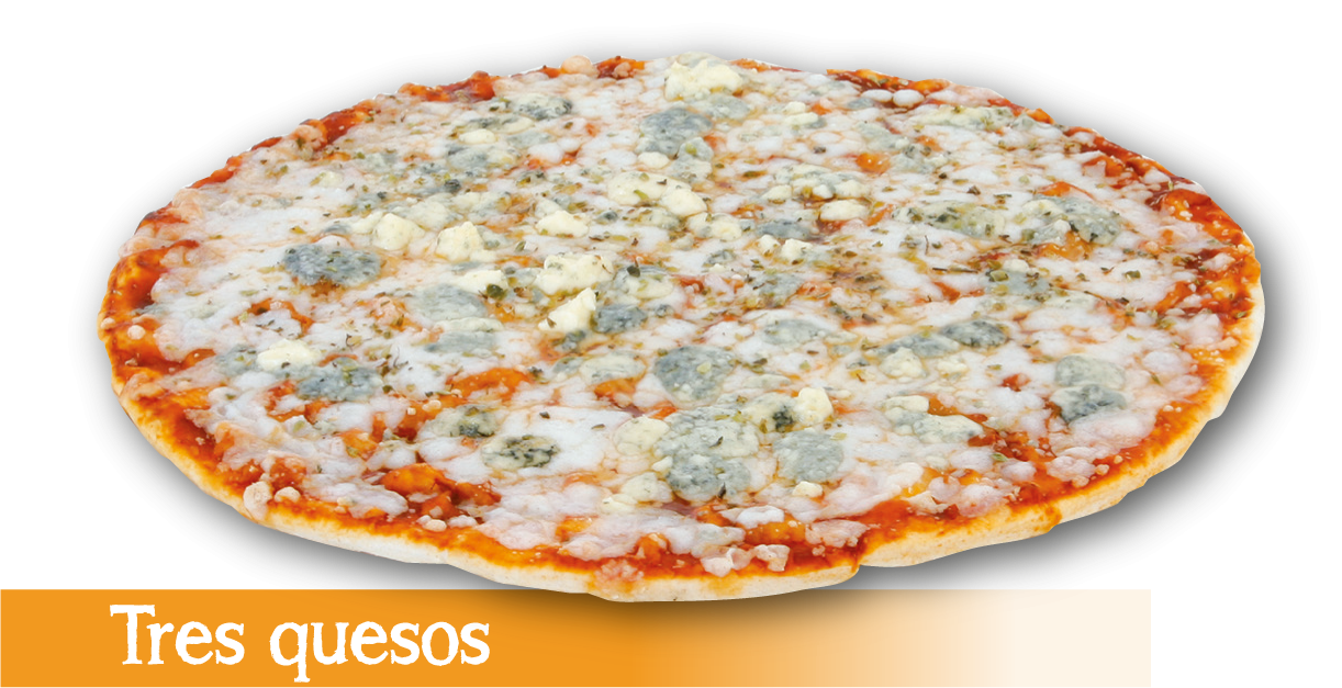 Pizza congelada Tres Quesos