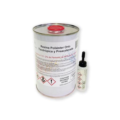Resina de Poliéster para laminar con Peróxido incluido