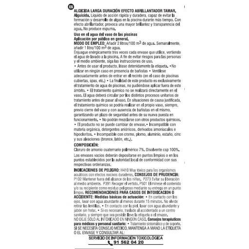 Antialgas piscina Líquido ALD (Algicida) [1]
