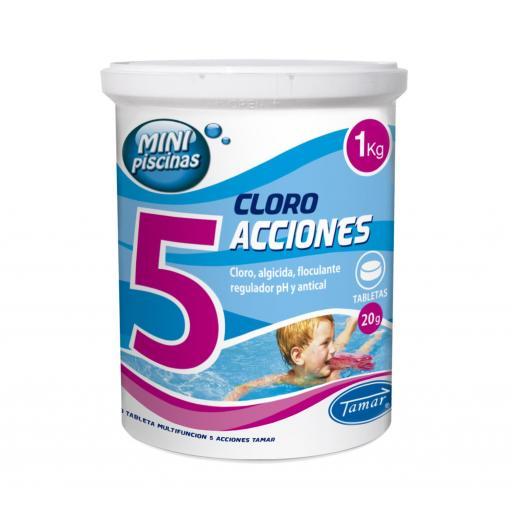 Cloro Minipiscinas 5 Acciones