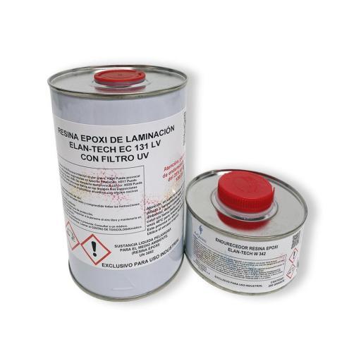 Resina Epoxi de laminación Elan-Tech EC131 LV filtro UV KIT