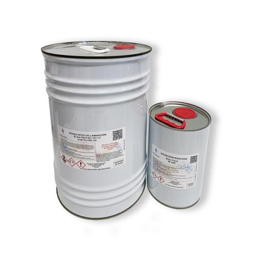 Resina Epoxi de laminación Elan-Tech EC131 LV filtro UV KIT [2]
