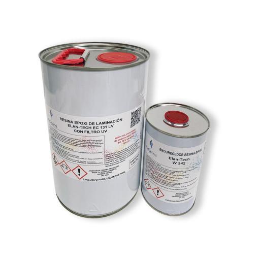 Resina Epoxi de laminación Elan-Tech EC131 LV filtro UV KIT [1]