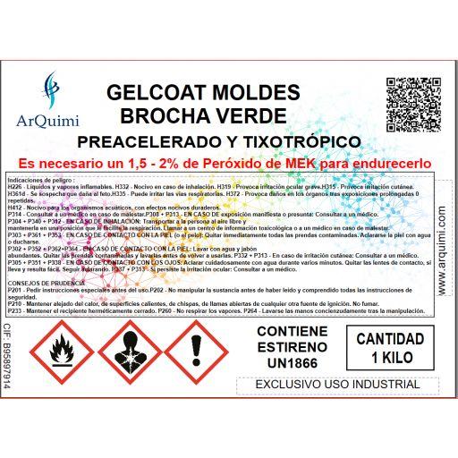 Gelcoat Moldes Brocha Verde VE Tooling H 520 [2]