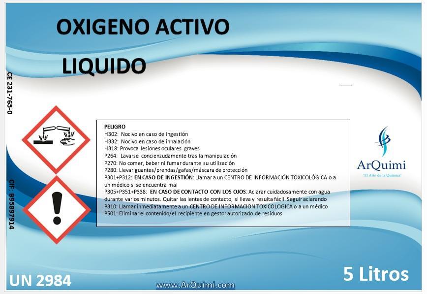 Oxígeno Activo Líquido piscinas