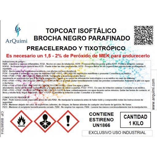 Topcoat Isoftálico Brocha Negro [2]