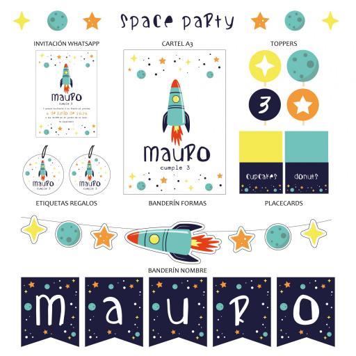 KIT SPACE PARTY IMPRESO