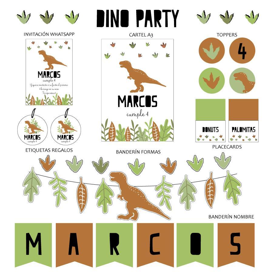 KIT IMPRIMIBLE DINO PARTY