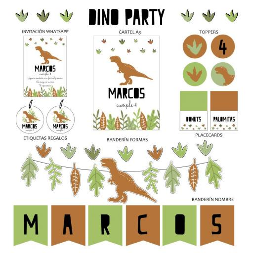 KIT IMPRIMIBLE DINO PARTY