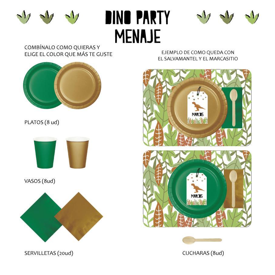 PACK MENAJE DINO PARTY