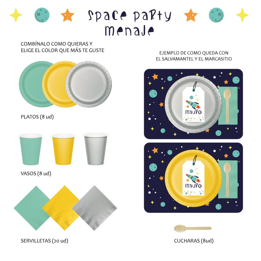 PACK MENAJE SPACE PARTY