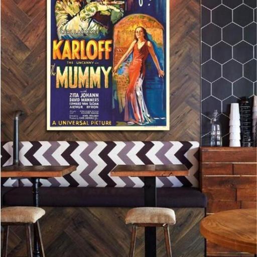 Cuadro en lienzo películas terror la momia Boris Karloff [1]