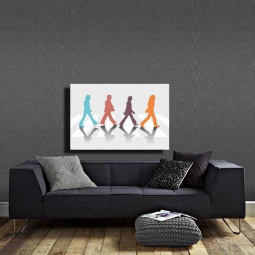 Cuadro en lienzo montado sobre bastidor Beatles Abbey Road Pop art [1]