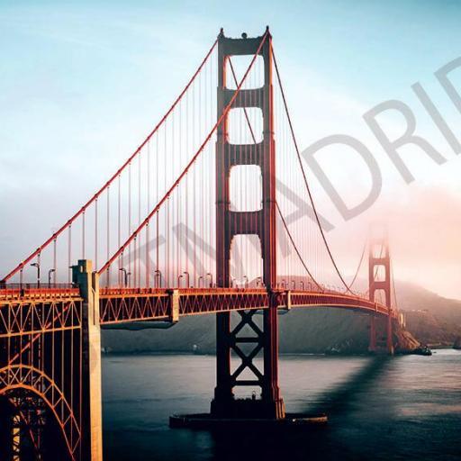 Cuadro en lienzo tamaño grande XXL bahía de San Francisco Puente Golden Gate Bridge