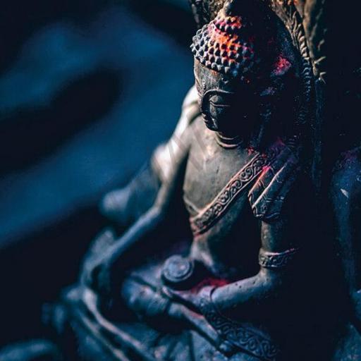 Cuadro en lienzo tamaño grande XXL decoración Buda meditación