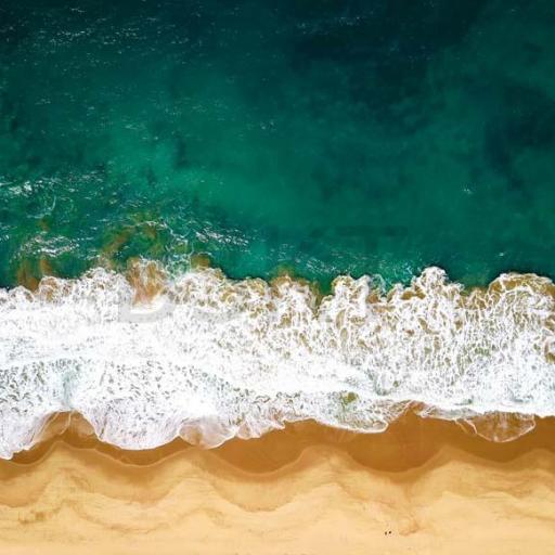 Cuadro en lienzo para decoración vista aérea de playa paisaje XXL