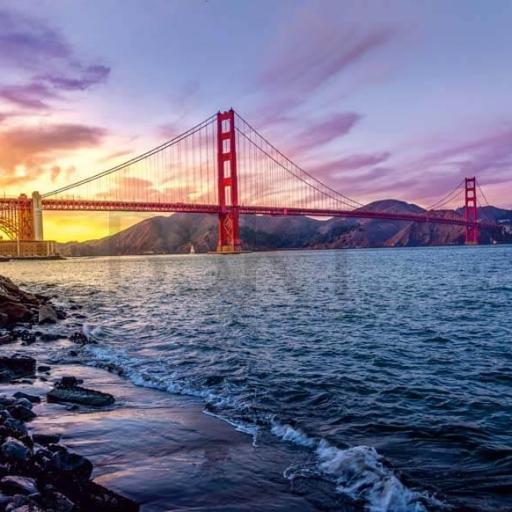 Cuadro en lienzo bahía de San Francisco tamaño grande