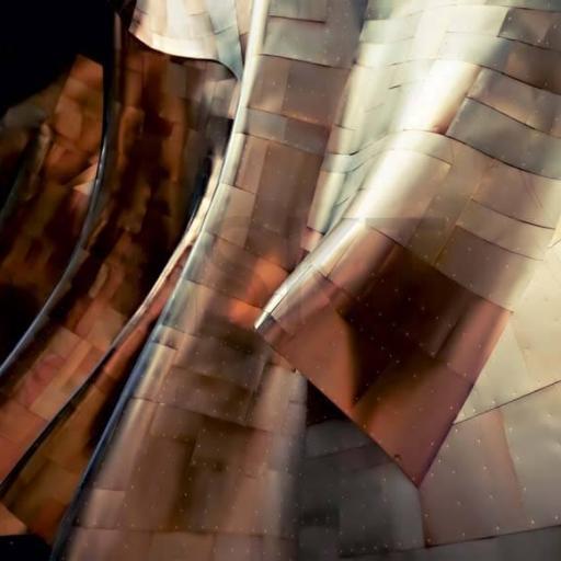 Cuadro en lienzo original edificio titanio XXL